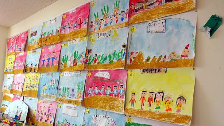 なかよし幼稚園 絵の作品展示会開催